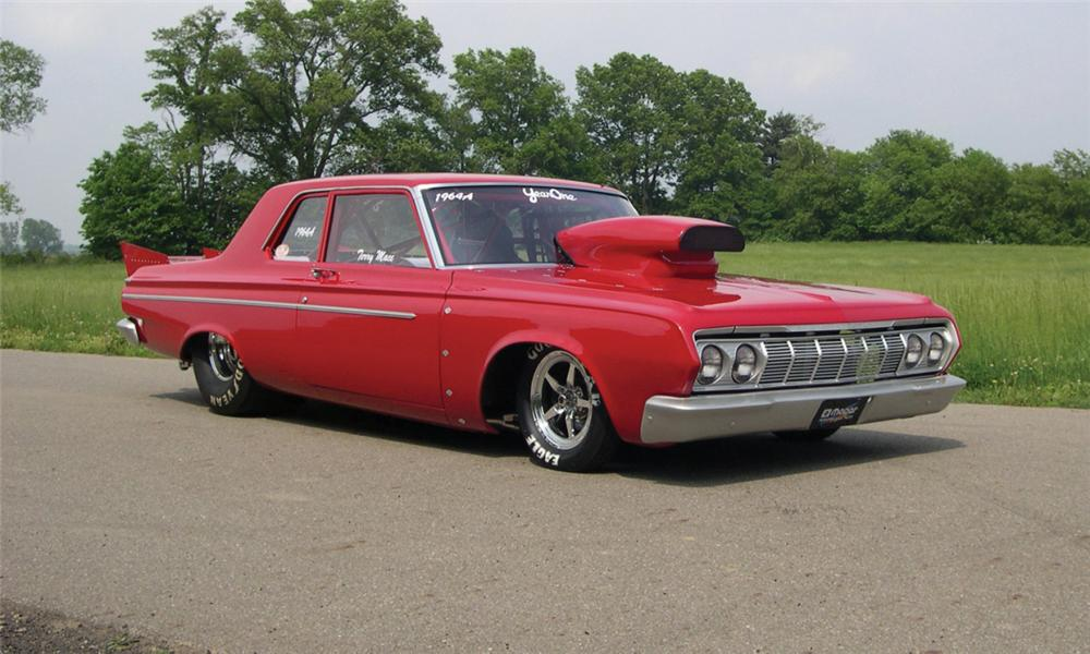 1964 PLYMOUTH SAVOY DRAG CAR - Front 3/4 - 39851