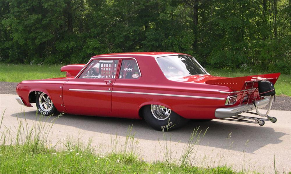 1964 PLYMOUTH SAVOY DRAG CAR - Rear 3/4 - 39851