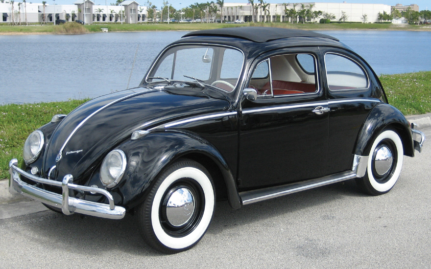 1963 VOLKSWAGEN BEETLE COUPE W/SUNROOF - Front 3/4 - 39858