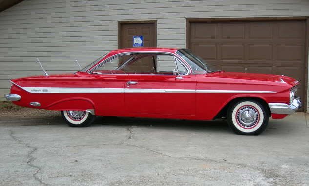 1961 CHEVROLET IMPALA SS BUBBLE TOP - Side Profile - 39859