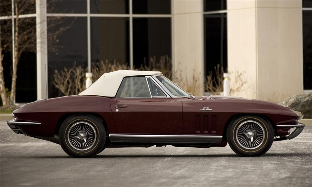 1966 CHEVROLET CORVETTE CONVERTIBLE - Side Profile - 39863