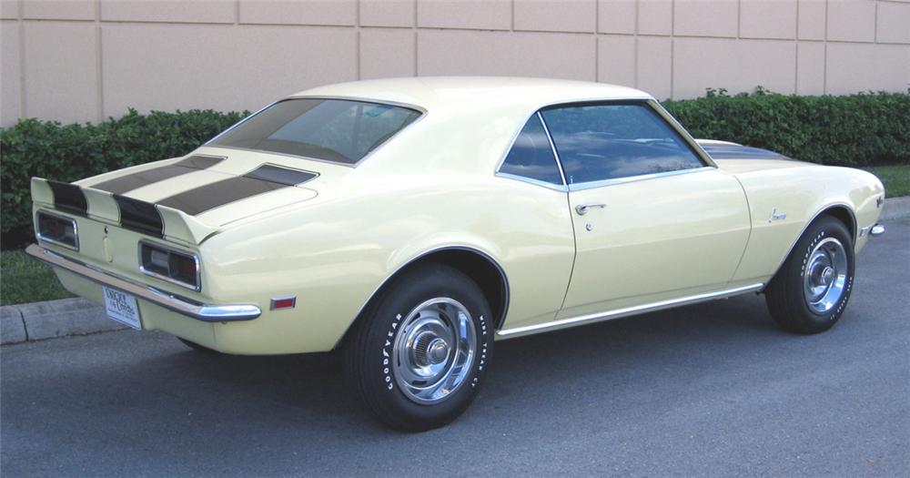 1968 CHEVROLET CAMARO Z/28 COUPE - Rear 3/4 - 39871