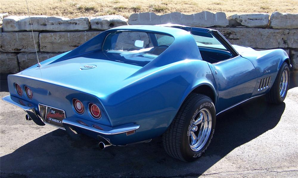 1969 CHEVROLET CORVETTE COUPE - Rear 3/4 - 39879