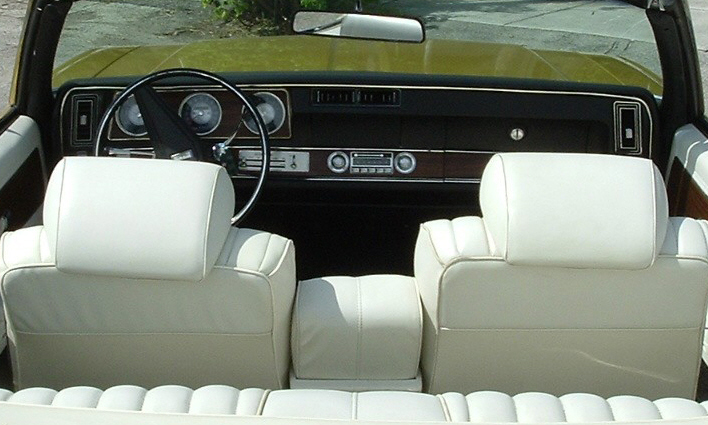 1972 OLDSMOBILE CUTLASS SUPREME CONVERTIBLE - Interior - 39886