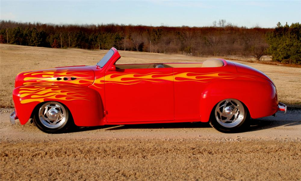 1947 FORD CUSTOM TUDOR CONVERTIBLE - Side Profile - 39887