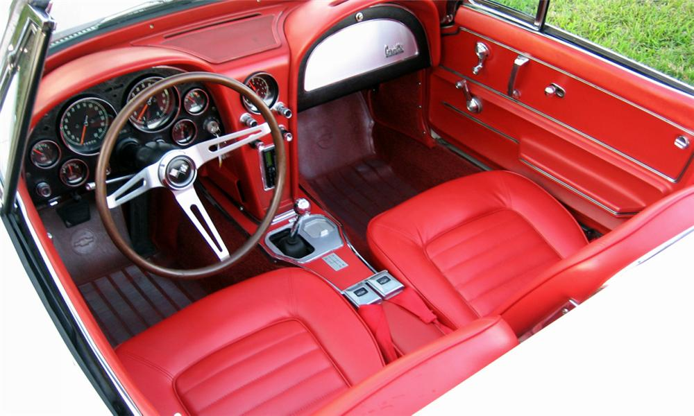 1966 CHEVROLET CORVETTE 327/300 CONVERTIBLE - Interior - 39907