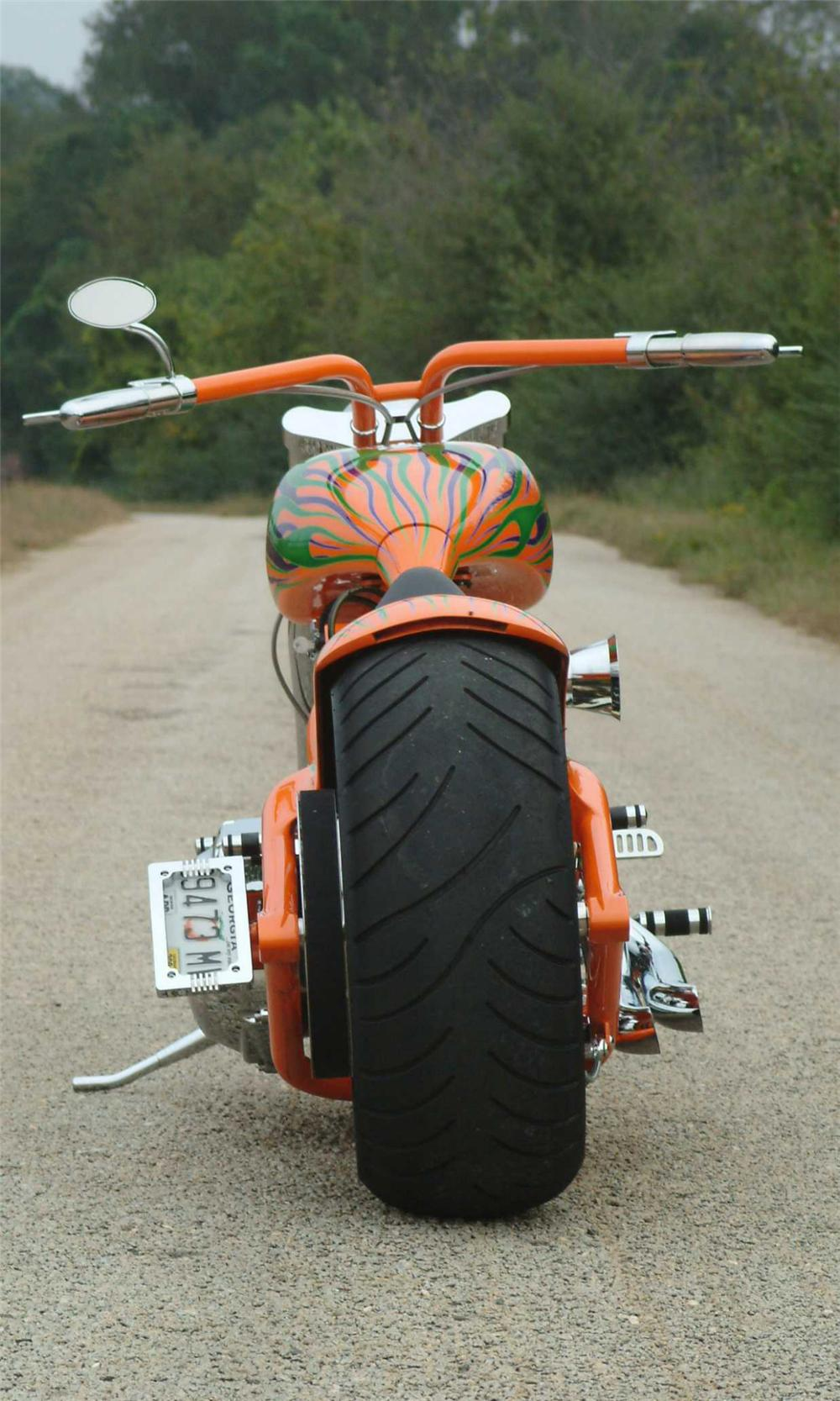 2003 REDNECK ROCKET LOWLIFE CUSTOM MOTORCYCLE - Rear 3/4 - 39913
