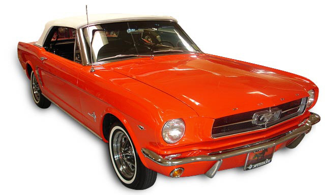 1965 FORD MUSTANG CONVERTIBLE - Front 3/4 - 39924