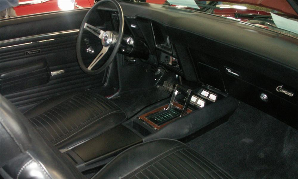 1969 CHEVROLET CAMARO L89 COUPE - Interior - 39935