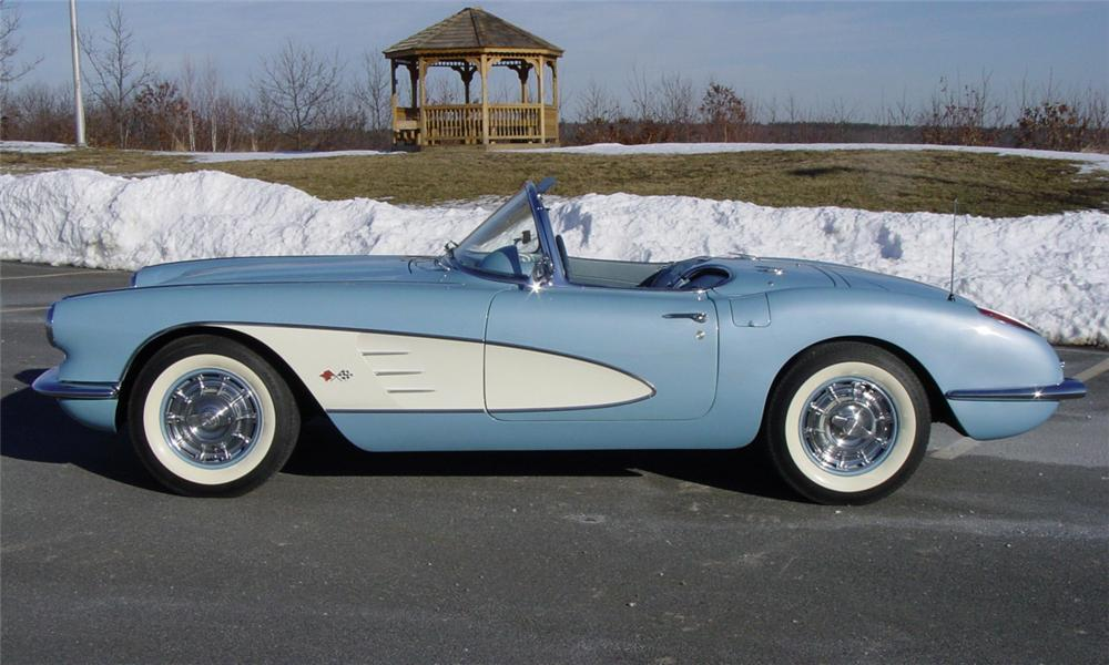 1960 CHEVROLET CORVETTE CONVERTIBLE - Side Profile - 39940