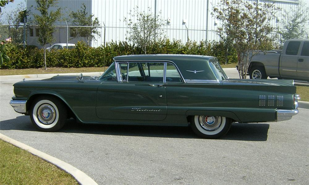1960 FORD THUNDERBIRD 2 DOOR HARDTOP W/SUNROOF - Side Profile - 39942
