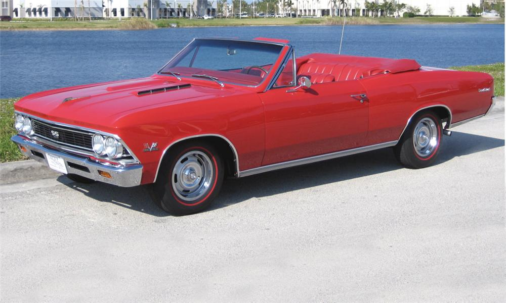 1966 CHEVROLET CHEVELLE SS 396 CONVERTIBLE - Front 3/4 - 39955