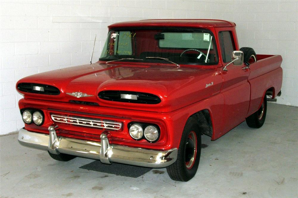1961 CHEVROLET APACHE PICKUP - Front 3/4 - 39956