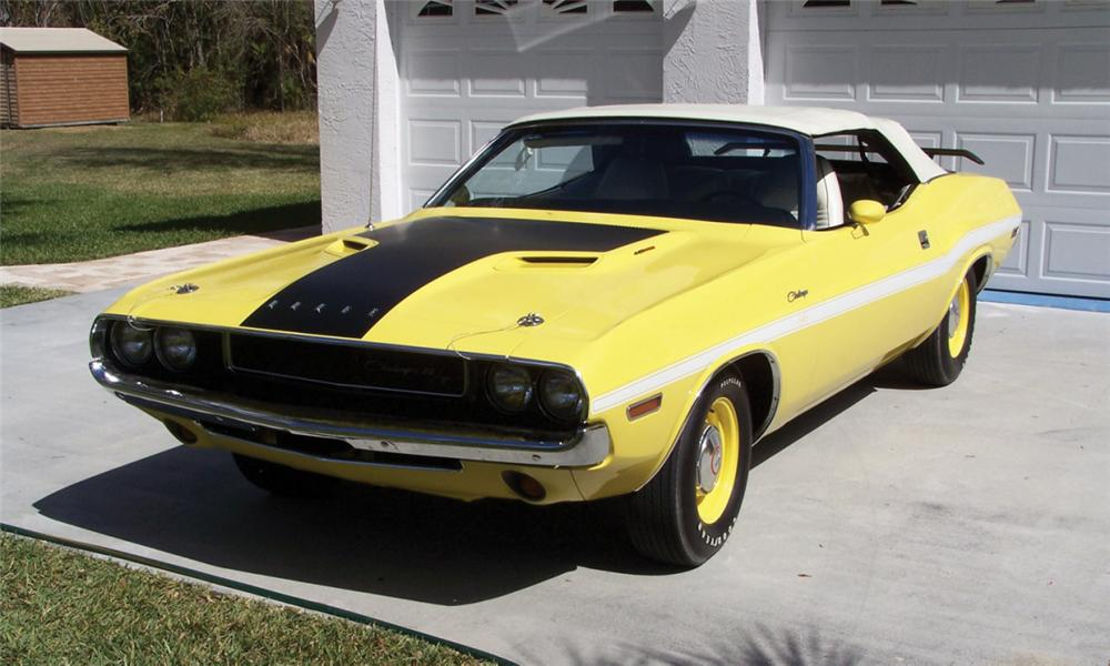 1970 DODGE CHALLENGER R/T CONVERTIBLE - Front 3/4 - 39963
