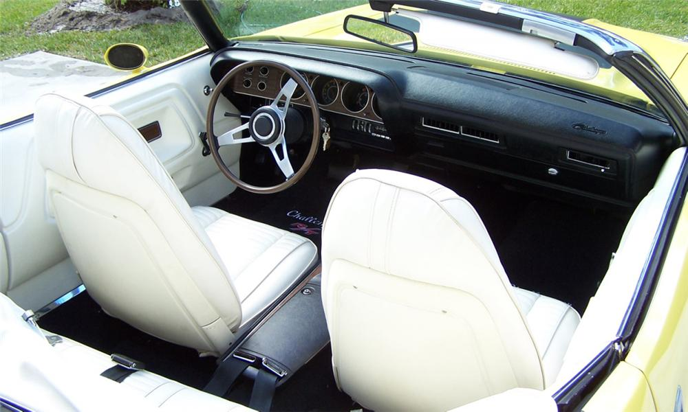 1970 DODGE CHALLENGER R/T CONVERTIBLE - Interior - 39963