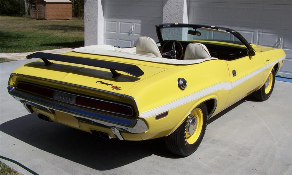 1970 DODGE CHALLENGER R/T CONVERTIBLE - Rear 3/4 - 39963
