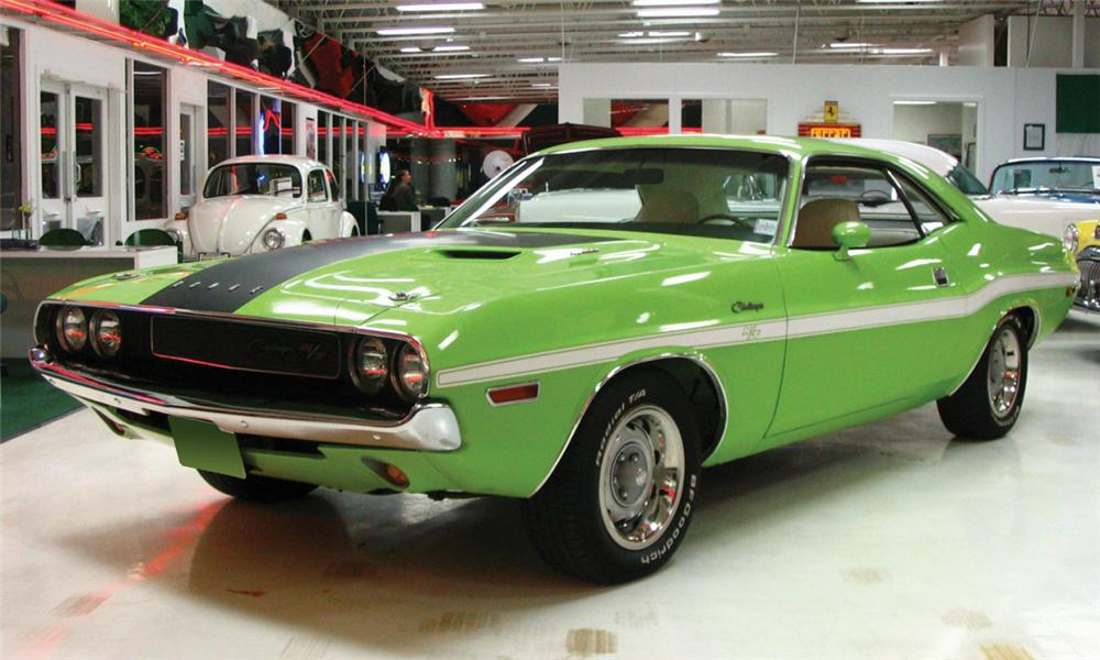 1970 DODGE CHALLENGER R/T COUPE - Front 3/4 - 39966