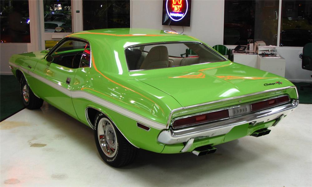 1970 DODGE CHALLENGER R/T COUPE - Rear 3/4 - 39966