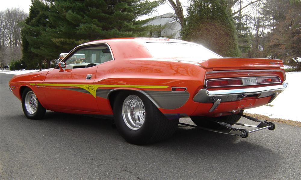 1972 DODGE CHALLENGER R/T CUSTOM 2 DOOR HARDTOP - Rear 3/4 - 39972