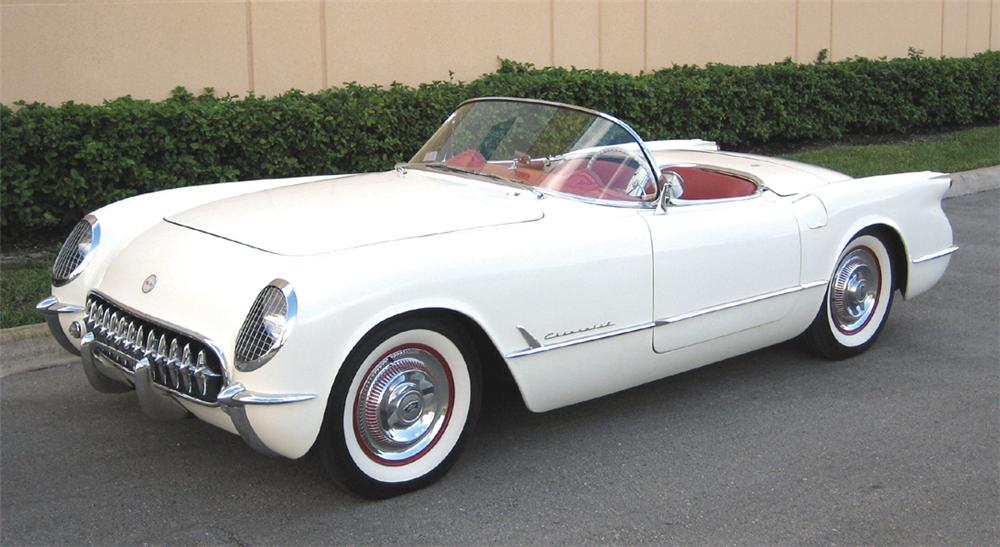1954 CHEVROLET CORVETTE CONVERTIBLE - Front 3/4 - 39973