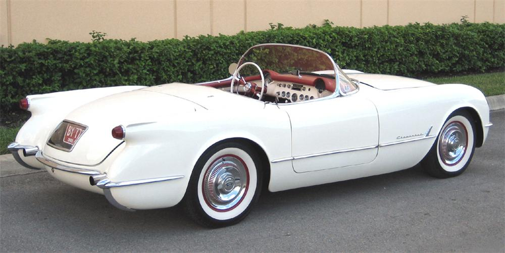 1954 CHEVROLET CORVETTE CONVERTIBLE - Rear 3/4 - 39973
