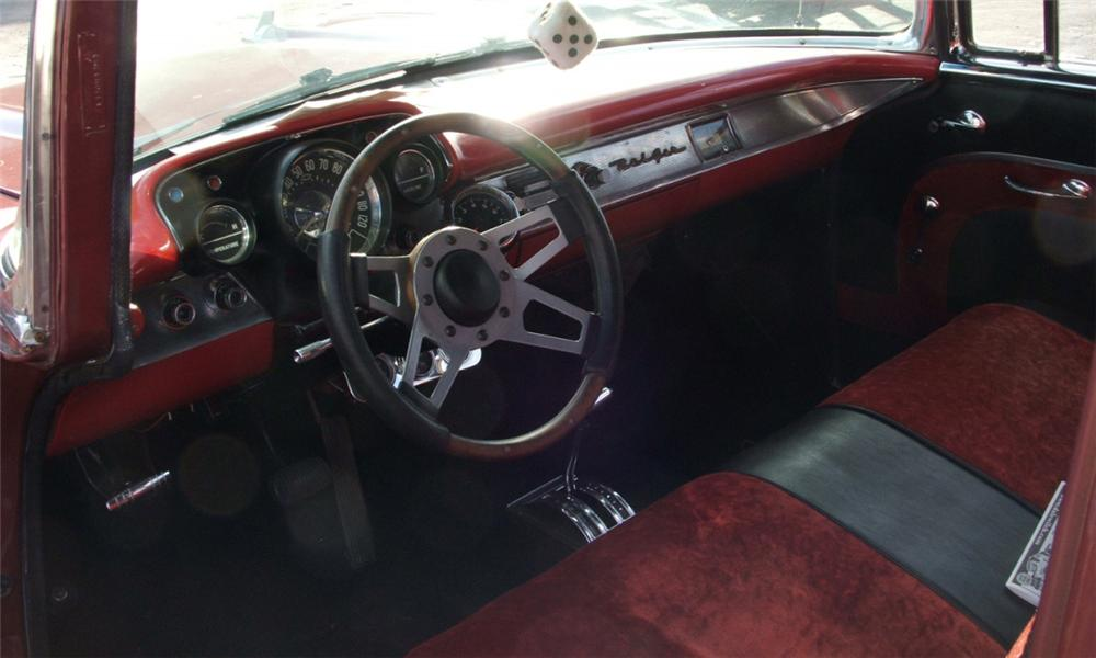 1957 CHEVROLET BEL AIR CUSTOM 2 DOOR SEDANETTE - Interior - 39987