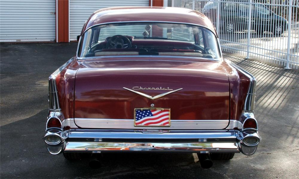 1957 CHEVROLET BEL AIR CUSTOM 2 DOOR SEDANETTE - Rear 3/4 - 39987