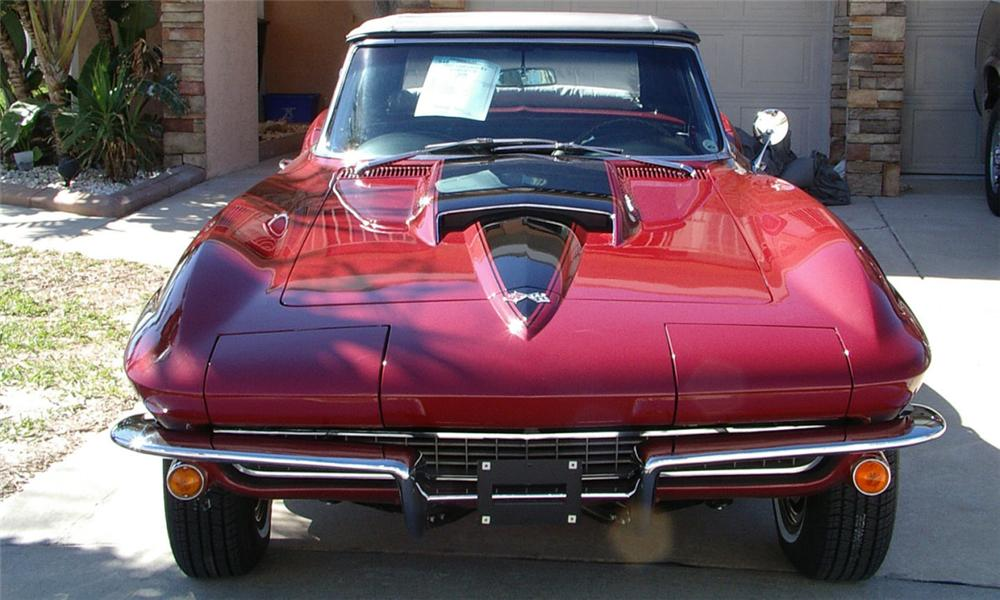 1967 CHEVROLET CORVETTE 427/435 CONVERTIBLE - Side Profile - 39989