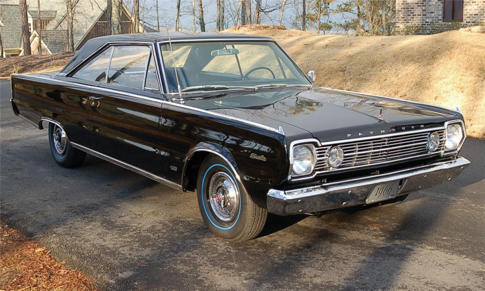 1966 PLYMOUTH HEMI SATELLITE 2 DOOR HARDTOP - Front 3/4 - 39990