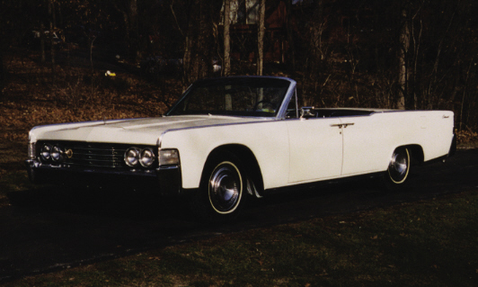 1965 LINCOLN CONTINENTAL CONVERTIBLE - Front 3/4 - 39993