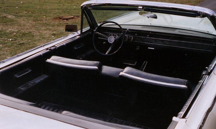 1965 LINCOLN CONTINENTAL CONVERTIBLE - Interior - 39993