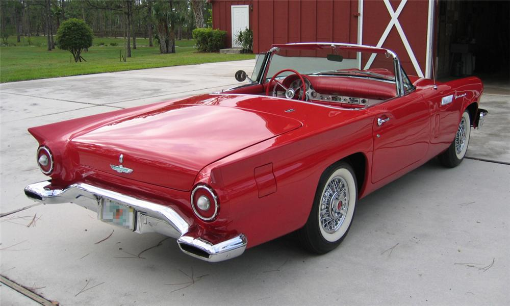 1957 FORD THUNDERBIRD CONVERTIBLE - Rear 3/4 - 40007