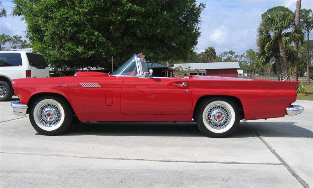 1957 FORD THUNDERBIRD CONVERTIBLE - Side Profile - 40007