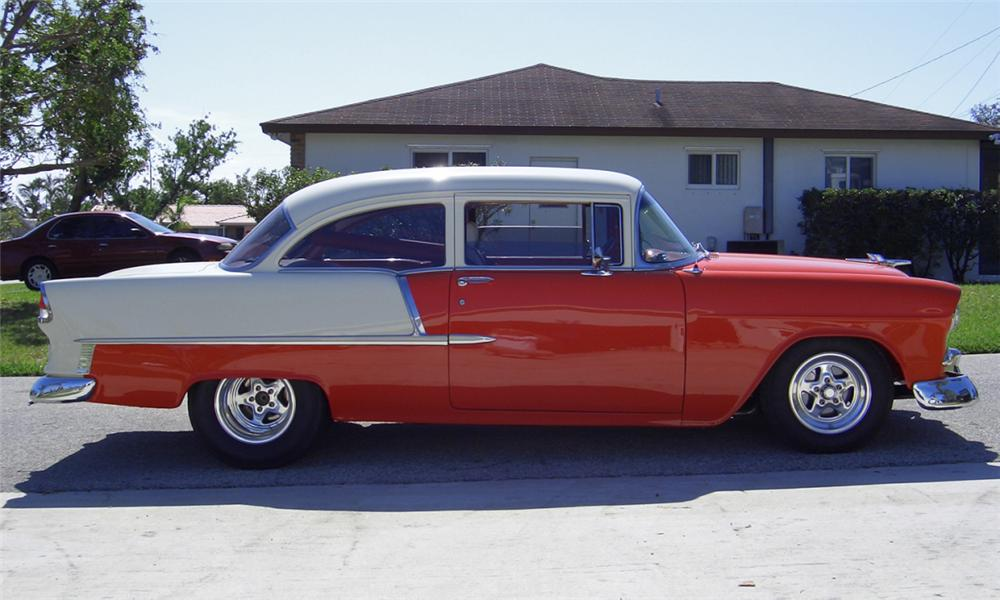 1955 CHEVROLET 210 CUSTOM 2 DOOR HARDTOP - Side Profile - 40008
