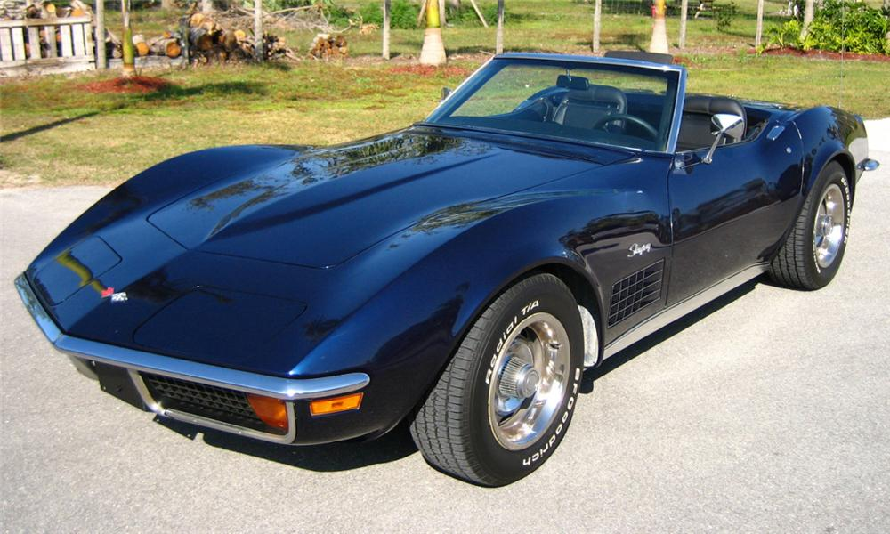1972 CHEVROLET CORVETTE CONVERTIBLE - Front 3/4 - 40011