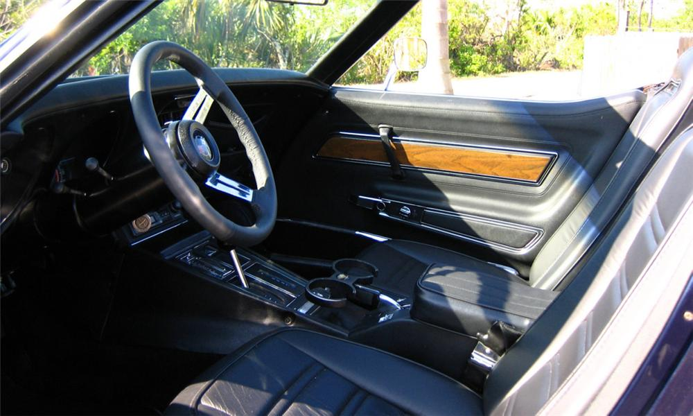 1972 CHEVROLET CORVETTE CONVERTIBLE - Interior - 40011