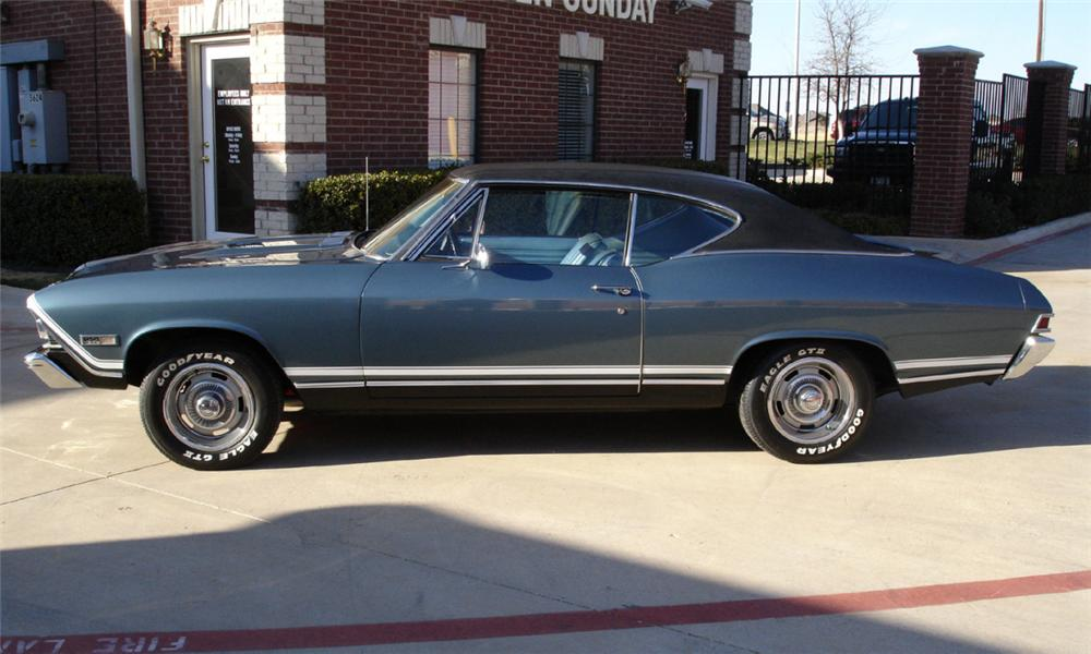 1968 CHEVROLET CHEVELLE SS 396 COUPE - Side Profile - 40015