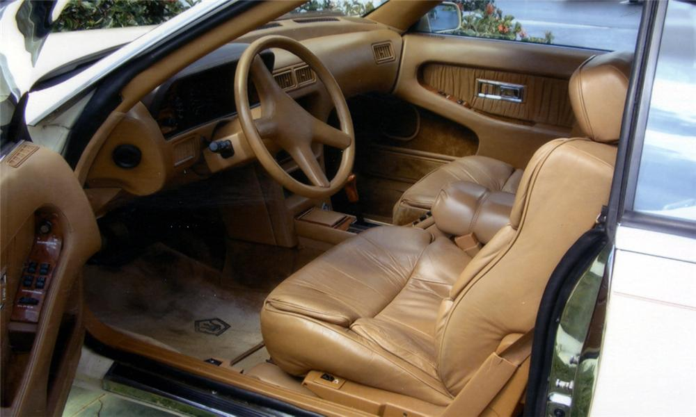 1989 CHRYSLER MASERATI TC ROADSTER - Interior - 40017