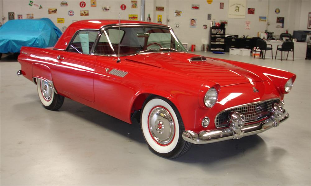 1955 FORD THUNDERBIRD CONVERTIBLE - Front 3/4 - 40019