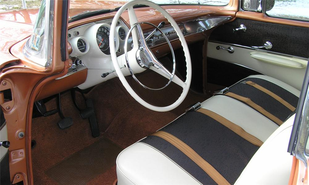 1957 CHEVROLET BEL AIR SPORT COUPE - Interior - 40022
