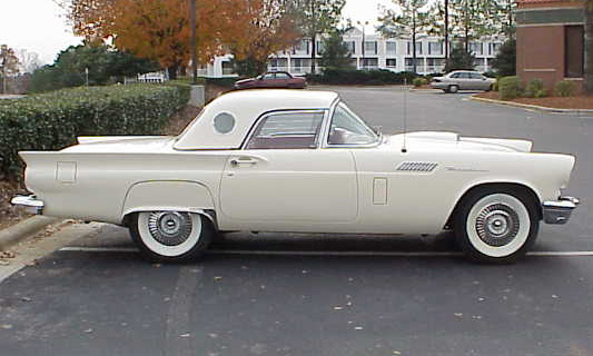 1957 FORD THUNDERBIRD CONVERTIBLE - Side Profile - 40034