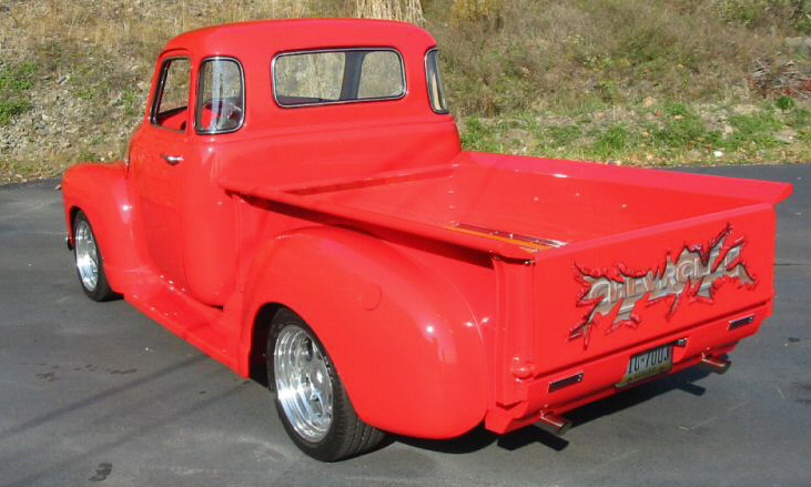 1949 CHEVROLET 3100 CUSTOM PICKUP - Rear 3/4 - 40037
