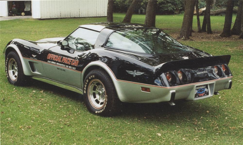 1978 CHEVROLET CORVETTE PACE CAR COUPE - Rear 3/4 - 40040
