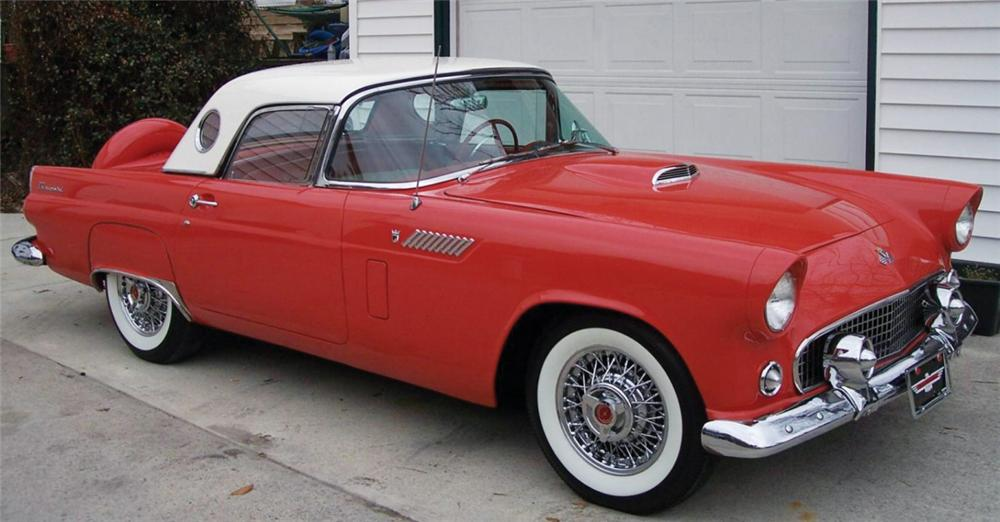 1956 FORD THUNDERBIRD CONVERTIBLE - Front 3/4 - 40050