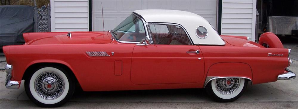 1956 FORD THUNDERBIRD CONVERTIBLE - Side Profile - 40050
