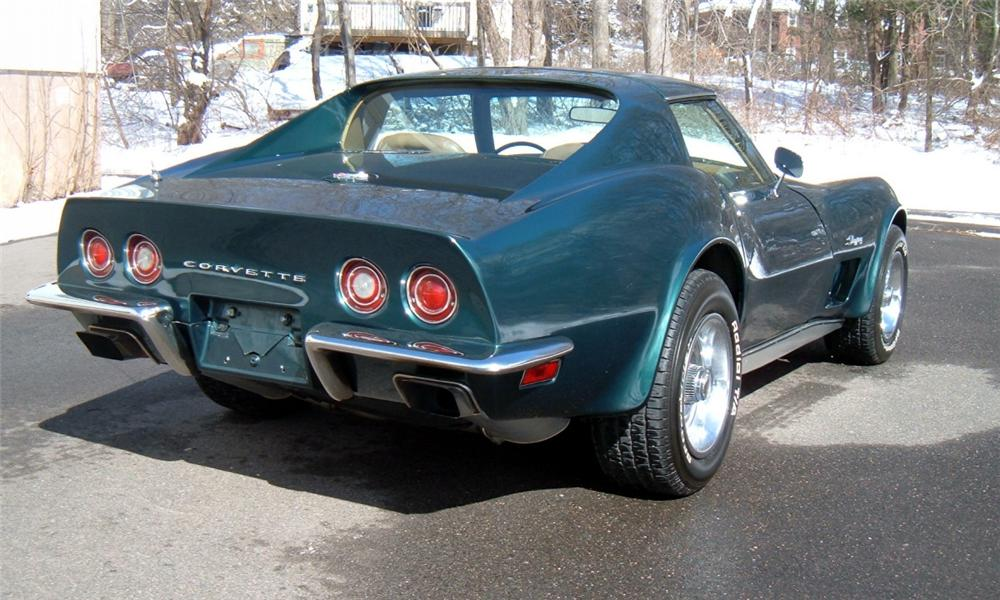 1973 CHEVROLET CORVETTE COUPE - Rear 3/4 - 40069