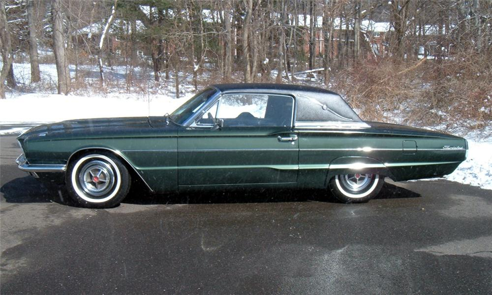1966 FORD THUNDERBIRD LANDAU COUPE - Side Profile - 40070