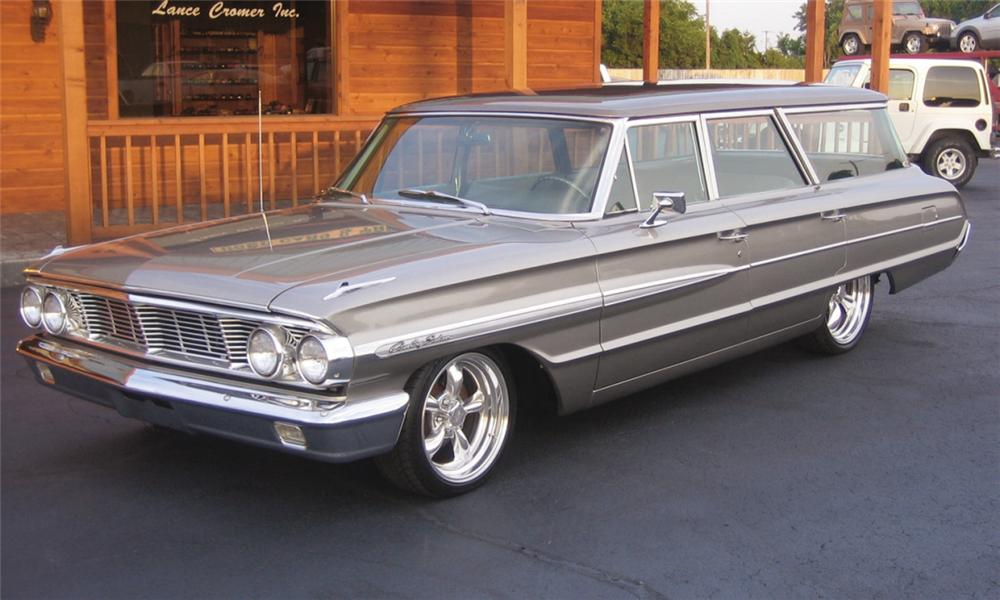 1964 FORD GALAXIE COUNTRY SQUIRE CUSTOM WAGON - Front 3/4 - 40074