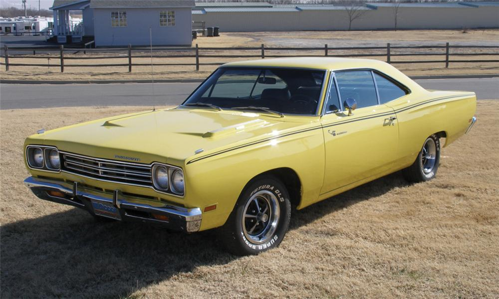 1969 PLYMOUTH ROAD RUNNER 2 DOOR HARDTOP - Front 3/4 - 40076