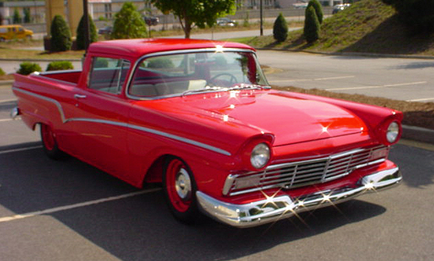 1957 FORD RANCHERO CUSTOM PICKUP - Front 3/4 - 40079